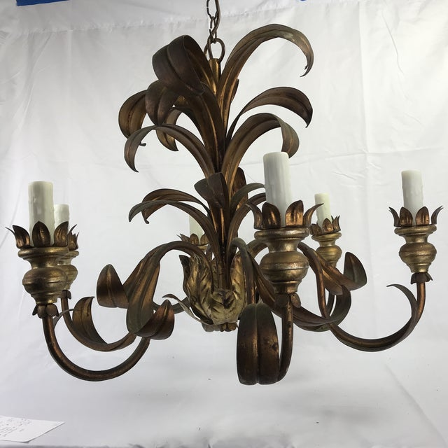 French French Mid-Century Chandelier For Sale - Image 3 of 8
