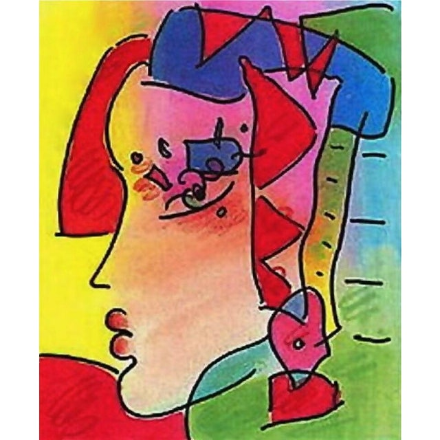Artist: Peter Max (1937) Title: Profile Series IV Year: 1998 Edition: 300, plus proofs Medium: Lithograph on Coventry...