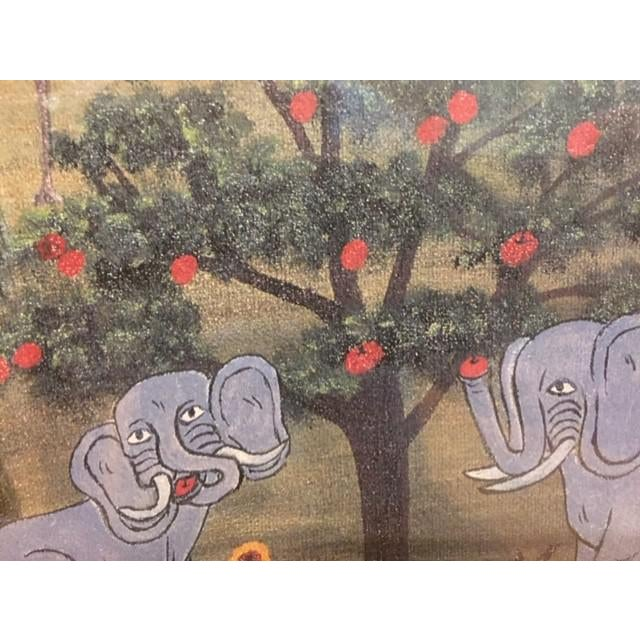 """Children's 1960s Vintage Mike Falco """"Lazy Afternoon"""" Folk Art Signed Artist Proof Serigraph on Canvas For Sale - Image 3 of 12"""
