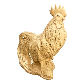 Cast Iron Rooster Statue For Sale