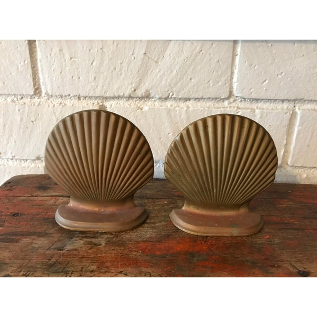 Brass Seashell Bookends - a Pair - Image 2 of 6