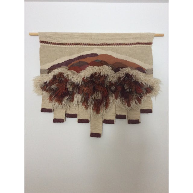Wood Vintage Bingaman Textile/Fiber Art/Macramé For Sale - Image 7 of 10