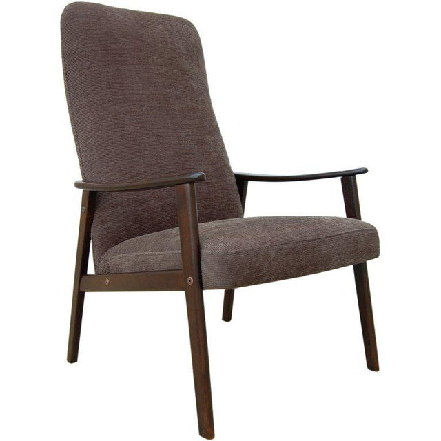 Vintage Swedish Modern Chenille Lounge Armchair For Sale - Image 9 of 9