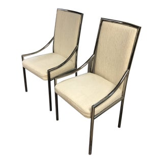 Mid Century Modern Chrome Chairs- A Pair For Sale