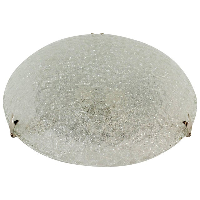 Textured Flush Mount with Chrome Hardware by Hustadt Leuchten For Sale - Image 9 of 9