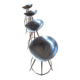 Jamaica Pepe Cortes X Knoll Bar Stools - Set of 4 For Sale