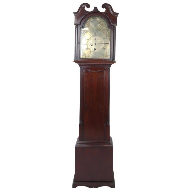 Mid-18th Century Scottish Case Clock by Robert Knox For Sale