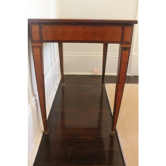 French Transitional Parquetry Inlaid Writing Desk For Sale - Image 10 of 13