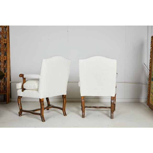 Pair of Italian Armchairs For Sale - Image 4 of 13