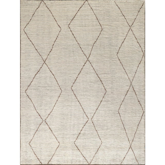 """Not Yet Made - Made To Order Stark Studio Rugs Baha Rug in White/Brown, 9'0"""" x 12'0"""" For Sale - Image 5 of 5"""