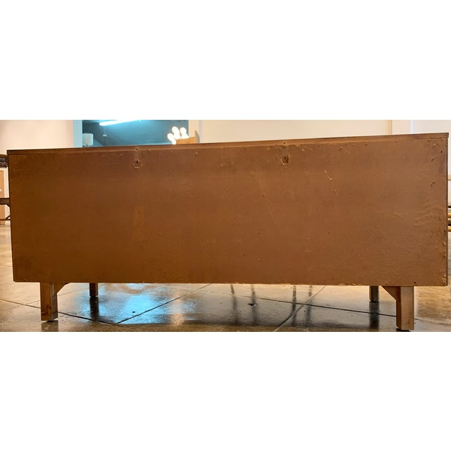 Mid Century Modern - Custom 1960's Burl Wood Dresser For Sale - Image 4 of 11