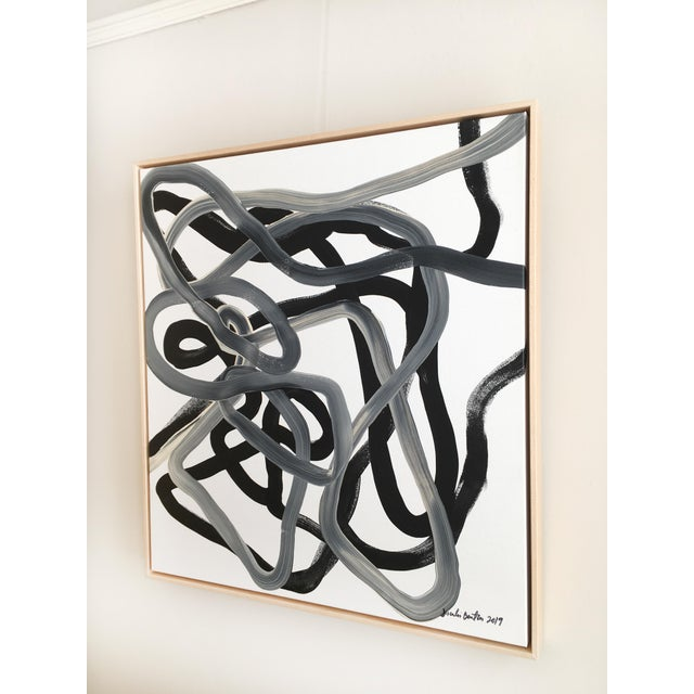 Abstract Black Knot Original Painting For Sale - Image 3 of 5