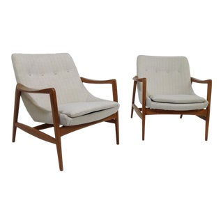 Modern Mid Century Style Lounge Chairs - a Pair For Sale