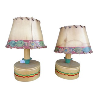 Vintage Monterey Fiesta Bedside Lamps - a Pair For Sale