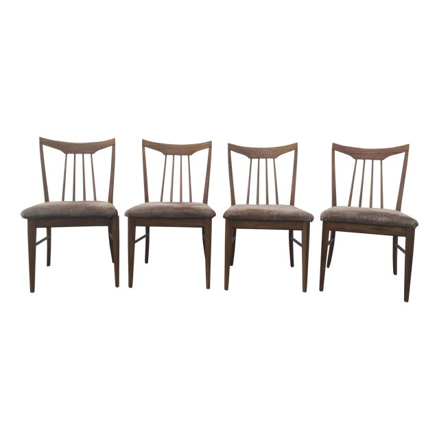 Mid Century Oak Dining Chairs - Set of 4 - Image 1 of 11