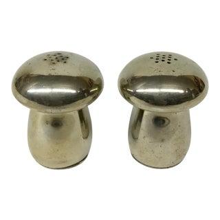 Mid Century Modern Mushroom Salt & Pepper Shakers - A Pair For Sale