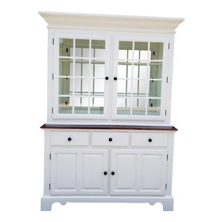 Vintage Country White Hutch