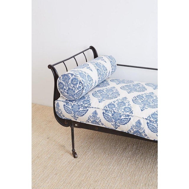 Cast Iron 19th Century, French Cast Iron Daybed With Linen For Sale - Image 7 of 13