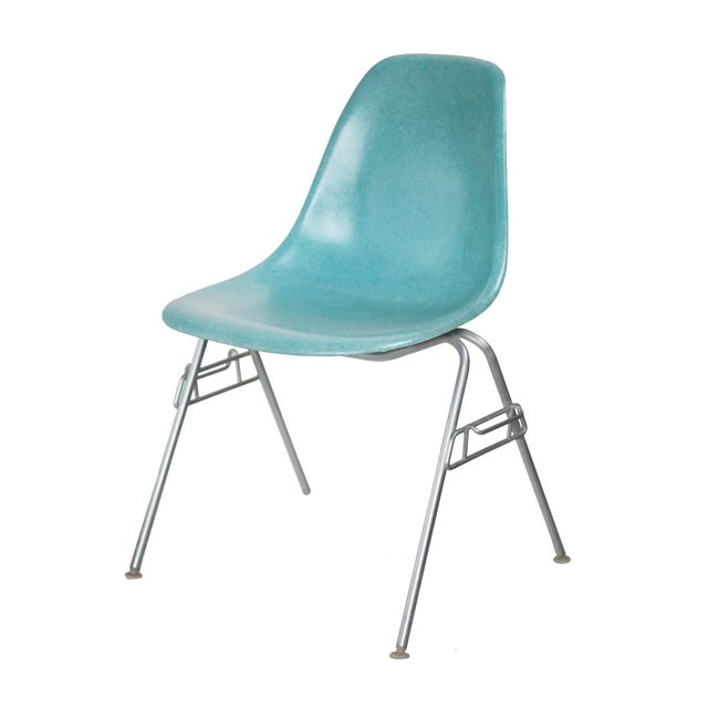 Turquoise Turquoise Herman Miller Fiberglass Eames Shell Chair For Sale - Image 8 of 9