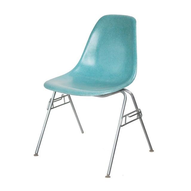 Turquoise Herman Miller Fiberglass Eames Shell Chair - Image 8 of 9