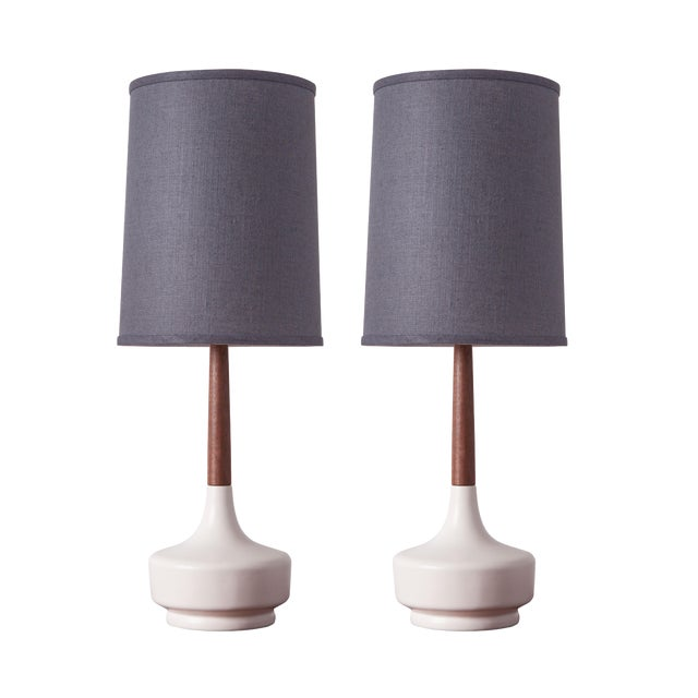 "Mid-Century Inspired ""Brooke - Marin"" Table Lamps - a Pair For Sale"