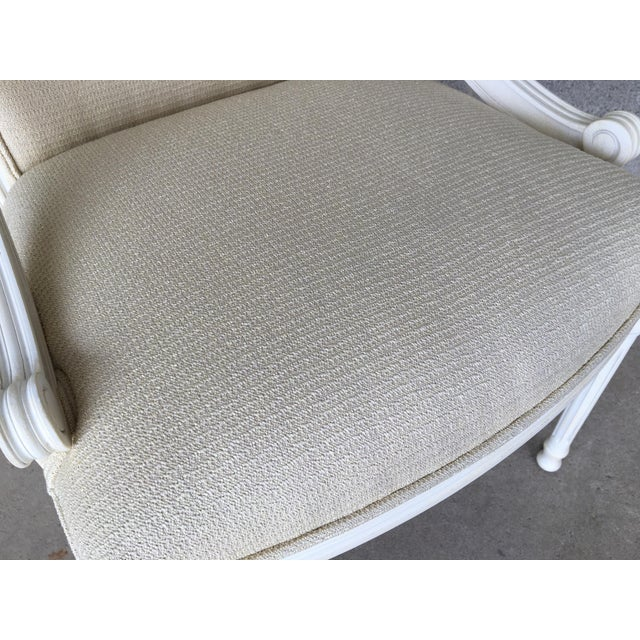 White Ej Victor Luxar Dining Arm Chairs - Set of 6 For Sale - Image 8 of 12