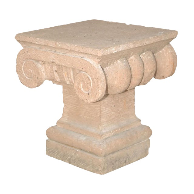 Late 20th Century Spanish Colonial Style Carved Stone Capital For Sale