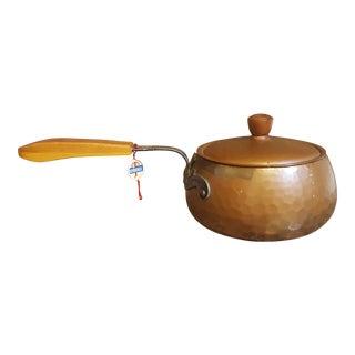 Stockli Netstal Hammered Copper Pot