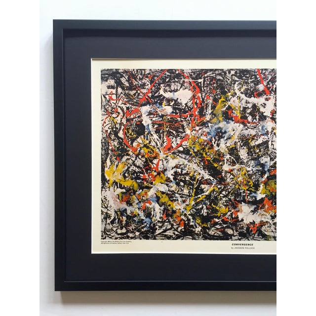 """This Jackson Pollock rare vintage 1964 Mid Century Modern custom framed Abstract Expressionist lithograph print""""..."""
