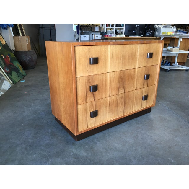George Nelson Inspired Walnut Lowboy Dressers - a Pair For Sale In Los Angeles - Image 6 of 10