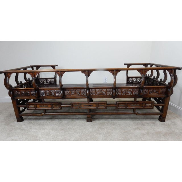 Chinese carved rosewood ming style opium day bed chairish for Asian furniture dc