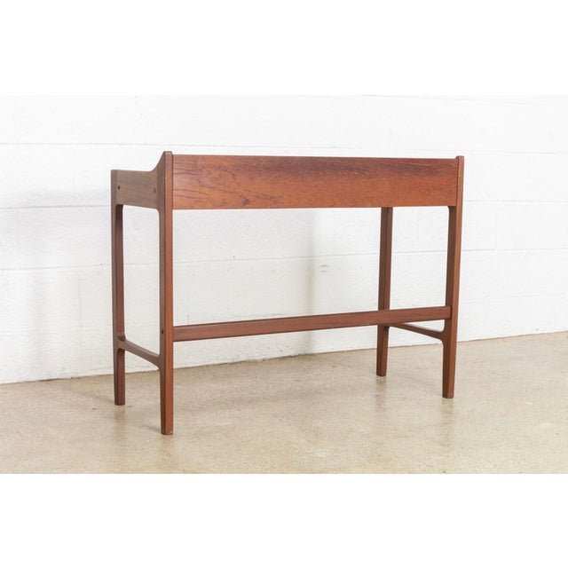 Danish Modern Teak Vanity Table For Sale - Image 10 of 12