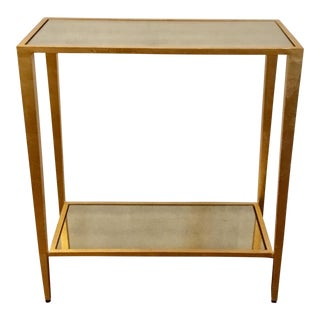 Worlds Away Joyce Gold Side Table For Sale