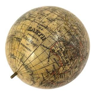 German Miniature Pocket Terrestrial Globe For Sale