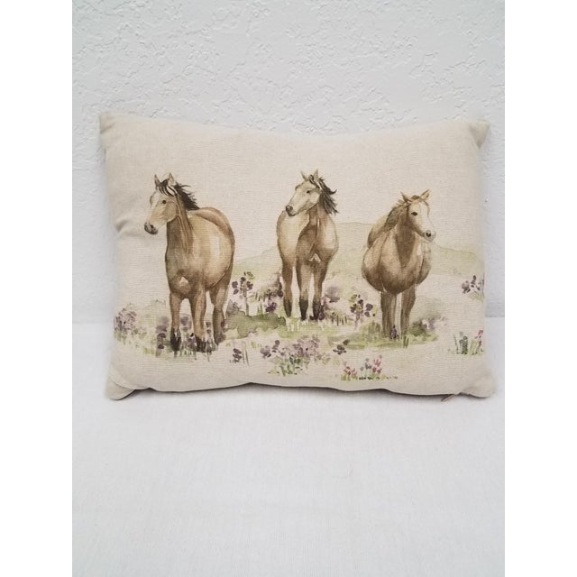 Horse Bolster Pillow For Sale - Image 9 of 9