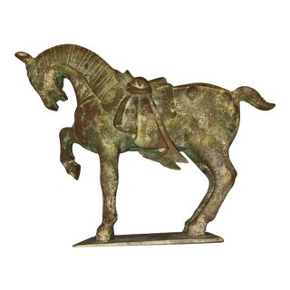 Vintage Antique Imperial Tang Dynasty Iron Horse Statue For Sale