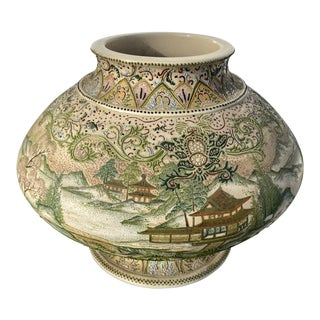 Large Meiji Period Satsuma Vase For Sale