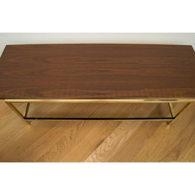 Brass and Walnut Cocktail Table - Image 6 of 7