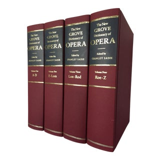 1990s Vintage The New Grove Dictionary of Opera, Stanley Sadie Books - Set of 4 For Sale