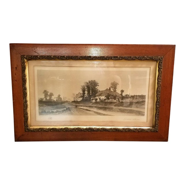 19c New York Signed Etching by Ernest Christian Rost 1891 For Sale