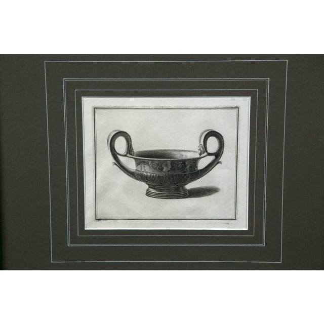 Neoclassical Framed Etching, Neoclassical Vessel, 19th Century For Sale - Image 3 of 6