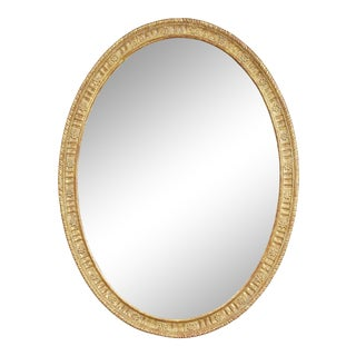 Late 18th Century George III Giltwood Oval Mirror For Sale