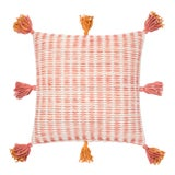 "Image of Justina Blakeney X Loloi Pink / Orange 22"" X 22"" Cover with Down Pillow For Sale"