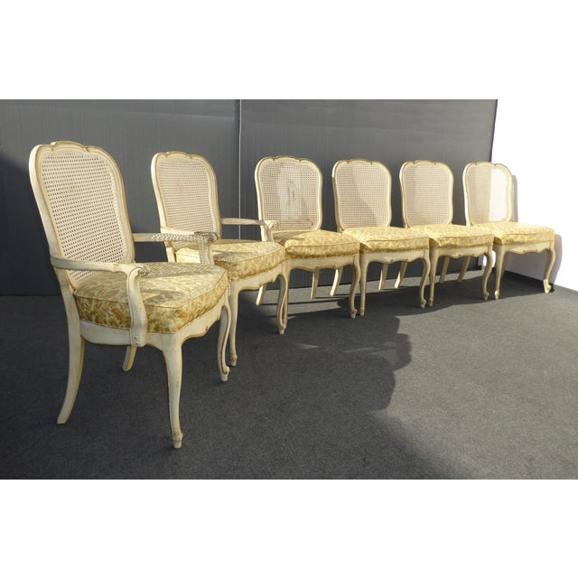 French Thomasville French Cane Dining Chairs - Set of 6 For Sale - Image 3 of 11