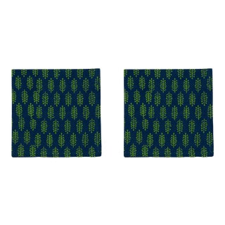 Fern Napkins, Green & Lime - A Pair For Sale