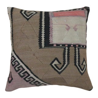1960s Vintage Turkish Taupe Pillow For Sale