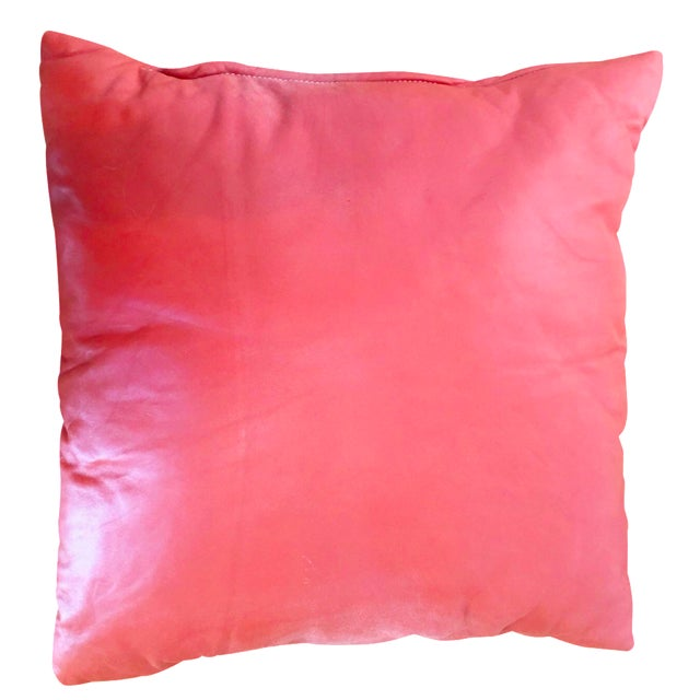Orange Leather Pillow - Image 1 of 5