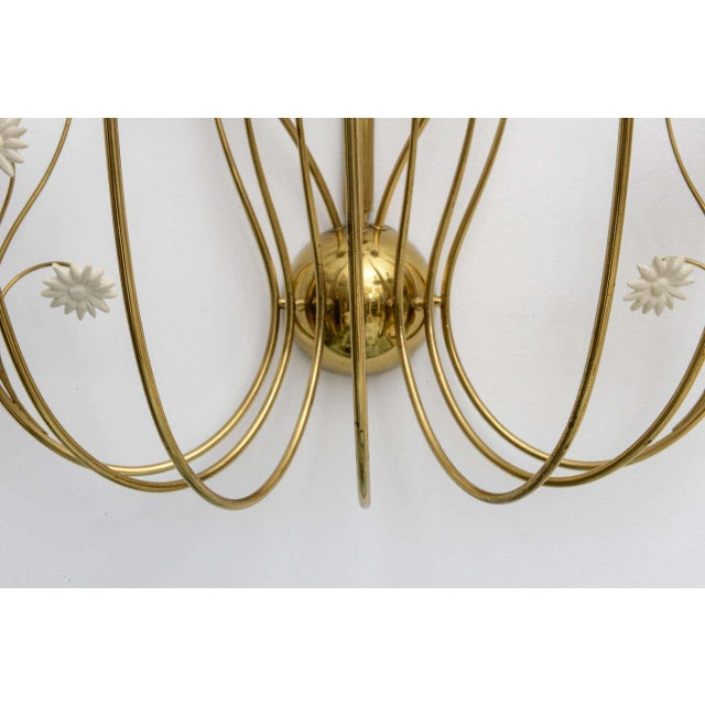 Italian Large Scale 1950's Italian Brass Candle Sconce For Sale - Image 3 of 11