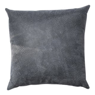 Leather Grey Abstract Pillow For Sale