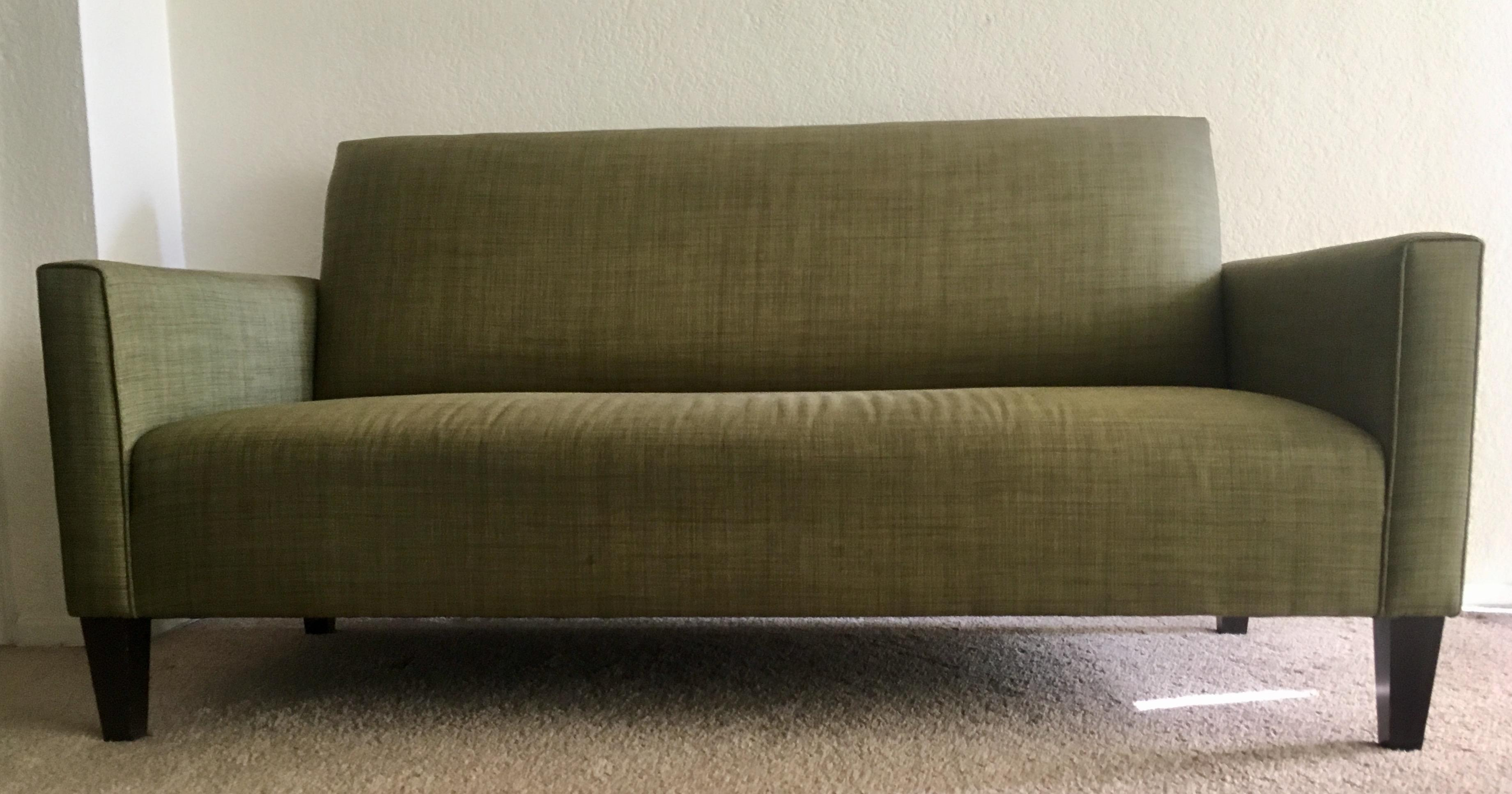 crate  u0026 barrel camden olive sofa   image 2     crate  u0026 barrel camden olive sofa   chairish  rh   chairish